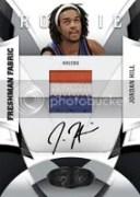 09/10 Panini Certified Jordan Hill Freshman Fabric Autograph