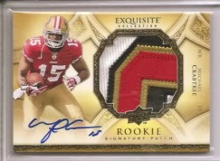 2009 Exquisite Michael Crabtree Patch Autograph