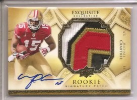 2009 Michael Crabtree Exquisite Patch Autograph