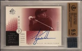 2001 Sp Authentic Tiger Woods SOTT Autograph