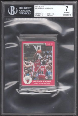 1984/85 Star Chicago Bulls Sealed Bag Graded