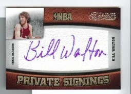 2009/10 Panini Timeless Treasures Bill Walton Private Signings Auto