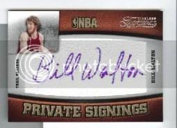 2009/10 Panini Timeless Treasures Bill Walton Private Signings Auto