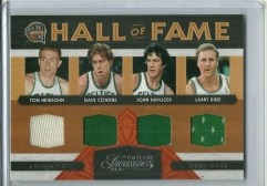 09/10 Panini Timeless Treasures HOF Quad Celtics Jersey