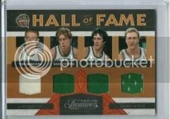 09/10 Panini Timeless Treasures HOF Quad Celtics Jersey