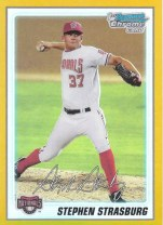 2010 Bowman Chrome Prospects Gold Stephen Strasburg /50