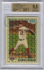 2010 Bowman Chrome Stephen Strasburg Superfractor BGS 9.5