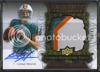 Chad Henne 2008 Upper Deck Exquisite Insert