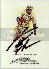 Curtis Granderson 2008 Topps Allen & Ginter TTM