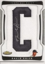 2009 Topps Finest David Price Patch Autograph Rookie