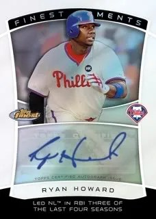 2010 Topps Finest Moments Ryan Howard Autograph