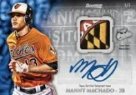 2013 Bowman Inception Manny Machado Auto Relic