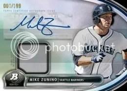 2013 Bowman Platinum Mike Zunino