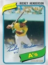 2013 Topps Tier One Rickey Henderson