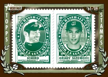 2010 Topps Heritage Stamp Insert Cards