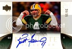 2006 UD Exquisite Brett Favre Autograph