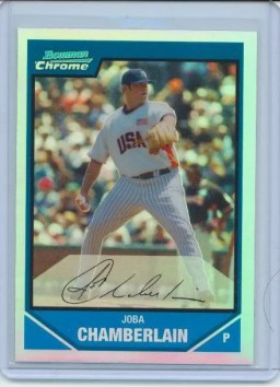 2007 Bowman Chrome Draft Joba Chamberlain Futures
