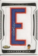 2009 Topps Finest Jonathon Niese Patch Auto RC