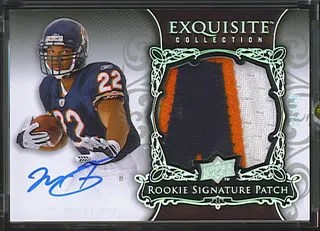 Matt Forte 2008 RC Upper Deck Exquisite Football Rookie RC Patch Auto