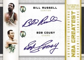 09/10 Panini National Treasures NBA Greates Quad Signature