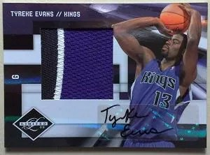 2009/10 Panini Limited Tyreke Evans Patch Auto Rookie RC