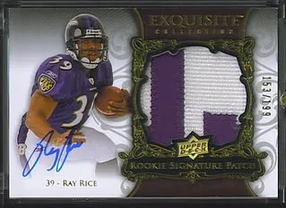 Ray Rice 2008 Exquisite Rookie RC Patch Auto