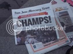 2010 SF Giants San Jose Mercury News Champs Newspaper