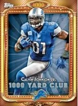 2013 Topps Calvin Johnson 1000 Yard Club