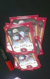 Vance McDonald Red Ink Autographs