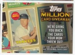 2010 Topps Million Card Giveaway