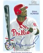 Ryan Howard 2010 Topps Chicle Autograph