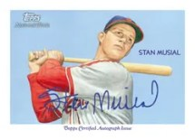Stan Musial Autograph Topps Chicle