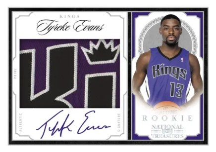 09/10 Panini National Treasures Tyreke Evans RC