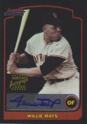 2003 Bowman Chrome Willie Mays Autograph