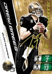 2010 Panini Adrenalyn XL Football Drew Brees Ultimate