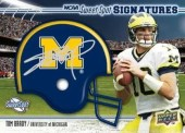 Tom Brady Autographed Michigan Helmet Card