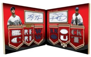 2010 Triple Threads Ryan Braun Prince Fielder Relic Dual Auto
