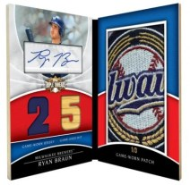2010 Triple Threads Ryan Braun Jumbo Plus Auto Relic