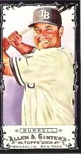 2009 Pat Burrell Allen & Ginter Mini Black Border