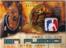 Fake Karl Malone NBA Logoman Patch Autograph
