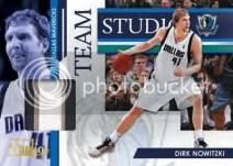 09/10 Panini Studio Dirk Nowitzki Team Studio Jersey