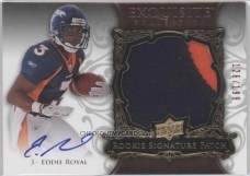 2008 Upper Deck Exquisite Football Eddie Royal Patch Autograph