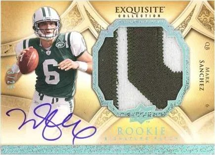 2009 UD Exquisite Football Mark Sanchez RC
