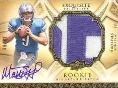 Matthew Stafford 2009 UD Exquisite Auto Patch RC