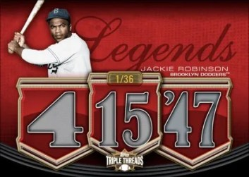 2010 Triple Threads Jackie Robinson Legends Relic