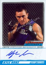 2010 Topps Ultimate Fighter Season 11 Foto Auto