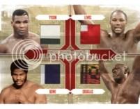 2010 Ringside Boxing Quad Tyson/Lewis/Bowe/Douglas