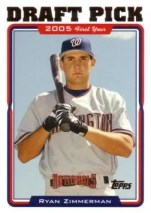 2005 Ryan Zimmerman Topps DP Rookie Card