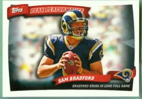 2010 Topps Sam Bradford Peak Performance