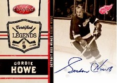 2010/11 Certified Legends Gordie Howe Autograph Parallel
